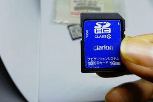 Nissan MP313D-A English Deck SD Map card for to enable all features of deck