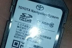 NSCD W66 Toyota English Language SD map Card for the Radio