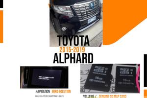 Toyota Alphard 2015 Navigation Radio Unlock SD Map Card Japan |