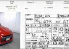 Japan Car Auction Sheet Parts